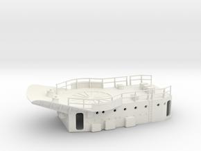 1/72 HMS Garland Hedgehog Platform in White Natural Versatile Plastic