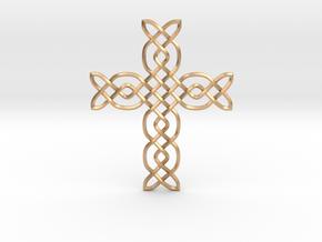 Cross in Natural Bronze