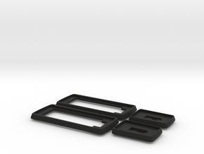 Door Handle Gasket Set  for a Scirocco MK1 in Black Natural Versatile Plastic
