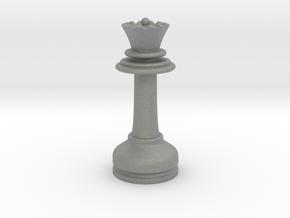 MILOSAURUS Chess MINI Staunton Queen in Gray PA12