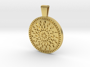 Mandala pendant in Polished Brass