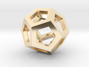 Dodecahedron in 14K Gold