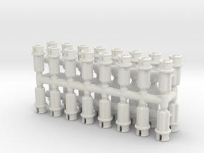Custom Half Pin-to-Axle in White Natural Versatile Plastic