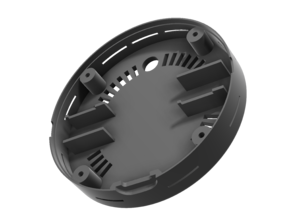 Back Plate Replacement for QuadLock with Vents in Black PA12: Medium