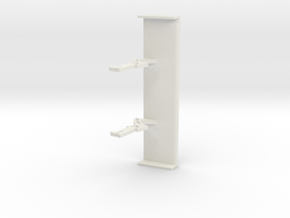 PSSX00103 rear wing for Scalextric Mercedes AMG GT in White Natural Versatile Plastic