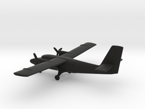 de Havilland Canada DHC-6 Twin Otter in Black Natural Versatile Plastic: 1:200