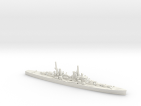 British Minotaur-Class Cruiser in White Natural Versatile Plastic: 1:1800
