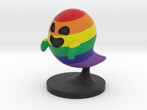 Gaysper miniature. 28-32mm LGBT ghost figure in Natural Full Color Sandstone