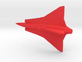1:500 Saab Draken  (Gear Down) in Red Processed Versatile Plastic
