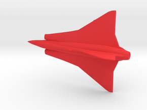 1:144 Saab Draken  in Red Processed Versatile Plastic