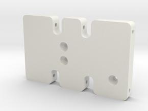 ODT Skid Plate in White Natural Versatile Plastic