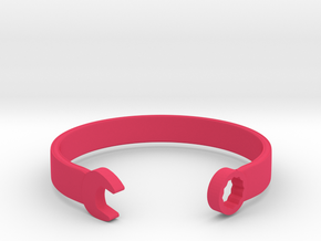 Wrench Bracelet in Pink Processed Versatile Plastic