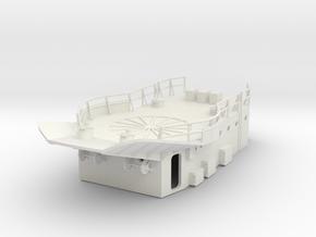 1/96 HMS Garland Forward Platform in White Natural Versatile Plastic
