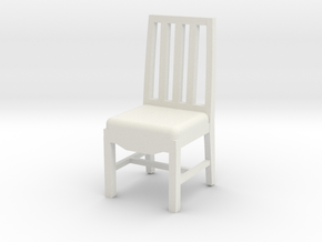 Arm-Less Chair in White Natural Versatile Plastic