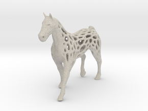 voronoi horse 2mm in Natural Sandstone