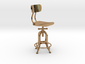 1:24 Industry Stool in Polished Brass