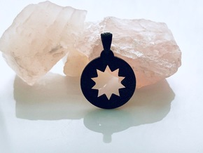P O W E R  Pendant in Polished and Bronzed Black Steel