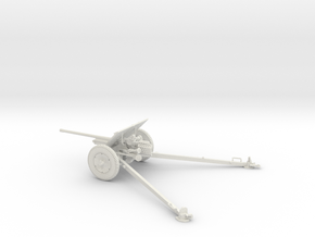 1/32 IJA Type 1 47mm Anti-tank gun in White Natural Versatile Plastic