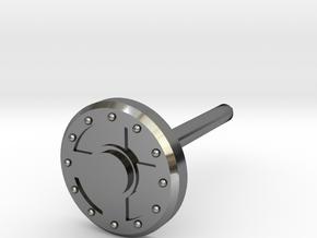 Warrior Shield Earring 5mm in Fine Detail Polished Silver