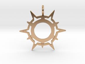 Symbol of Pelor in Polished Bronze