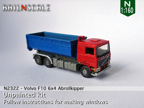 Volvo F10 6x4 Abrollkipper mit Abrollcontainer N in Smooth Fine Detail Plastic