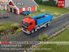Volvo F10 Hook lift w. container (British N 1:148) in Smooth Fine Detail Plastic