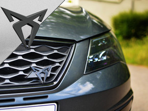 Cupra Grill Flag Swap - Logo Part in White Natural Versatile Plastic
