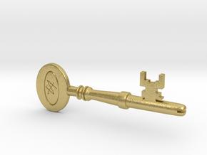 Supernatural Men of Letters Key Replica Prop in Natural Brass