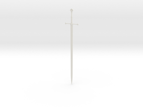 1:12 Miniature Anduril Sword - LOTR in White Natural Versatile Plastic: 1:12
