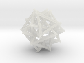 16 Triangles Silver in Smooth Fine Detail Plastic