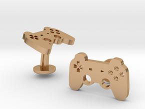 Playstation Gamepad Wedding Cufflinks in Polished Bronze