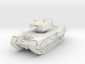 Churchill III 6pdr 1/76 in White Natural Versatile Plastic