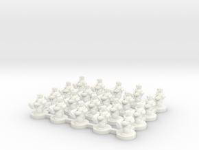 6mm - Urban Troops x 20 in White Processed Versatile Plastic