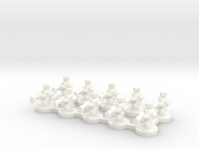 6mm - Urban Heavy Machine Gunners x 10 in White Processed Versatile Plastic