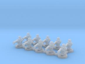 6mm - Urban Heavy Machine Gunners x 10 in Smooth Fine Detail Plastic