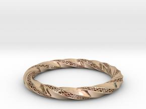 Torus Modern Form Bracelet  in 14k Rose Gold