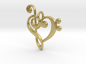 Love Music Pendant in Natural Brass