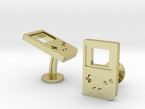 Nintendo Gameboy Orginal Cufflinks in 18k Gold Plated Brass