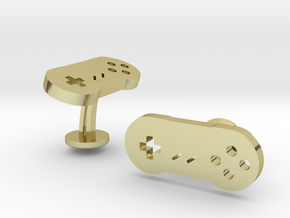 Nintendo SNES Cufflinks in 18k Gold Plated Brass