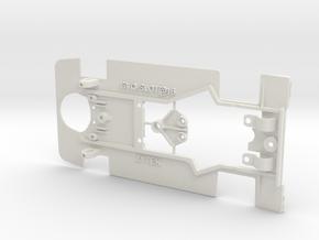 Chasis para Coche Zytek de Slot in White Natural Versatile Plastic