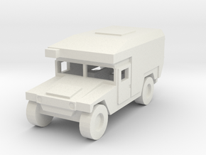 1:64 Humvee M997 aircon in White Natural Versatile Plastic