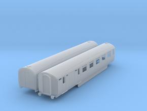 o-148fs-lner-silver-jubilee-E-F-twin-coach in Smooth Fine Detail Plastic