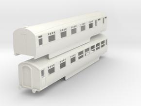 0-100-lner-silver-jubilee-A-B-twin-coach in White Natural Versatile Plastic