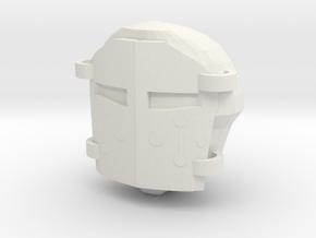 WarhammerHelmet v2 in White Natural Versatile Plastic