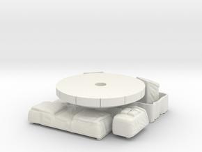 Batteries-HGA-Seats in White Natural Versatile Plastic