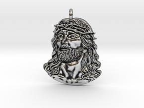 Jesus Charm in Antique Silver