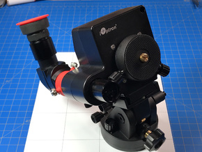 Right Angle Scope Adapter for Polar Scopes in Red Processed Versatile Plastic: Medium