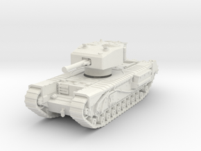 Churchill III 6pdr (short) 1/76 in White Natural Versatile Plastic