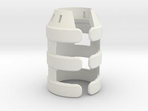 Emitter Shroud - Nova in White Natural Versatile Plastic