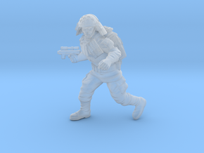 Authority Navy Trooper3 in Smooth Fine Detail Plastic